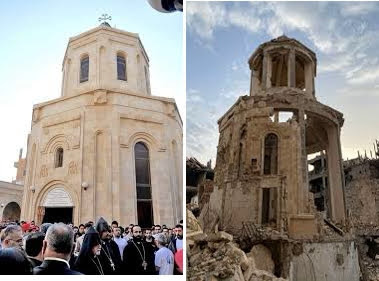 Foto actualizada de la iglesia armenia en Deir ez-Zor