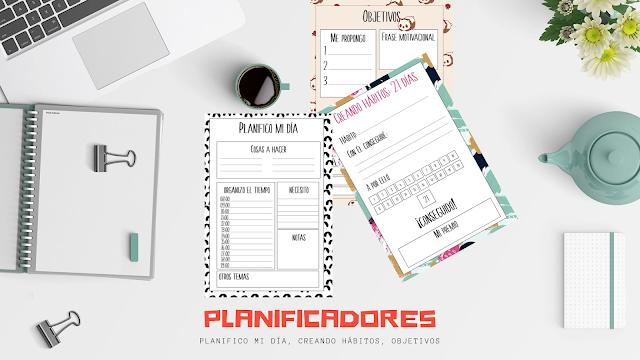 planificadores, imprimibles, descargar, pdf, gratis