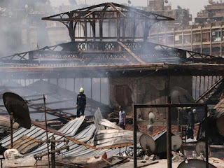 Le  Marche de Cairo after the fire
