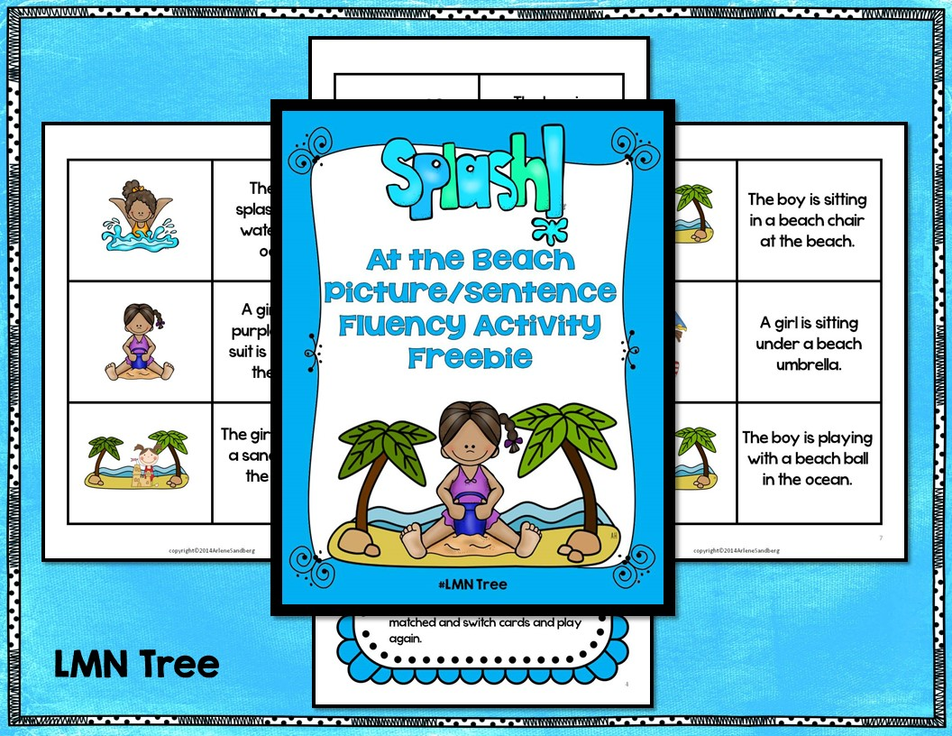 Building Fluency With A Summer Picture Sentence Activity