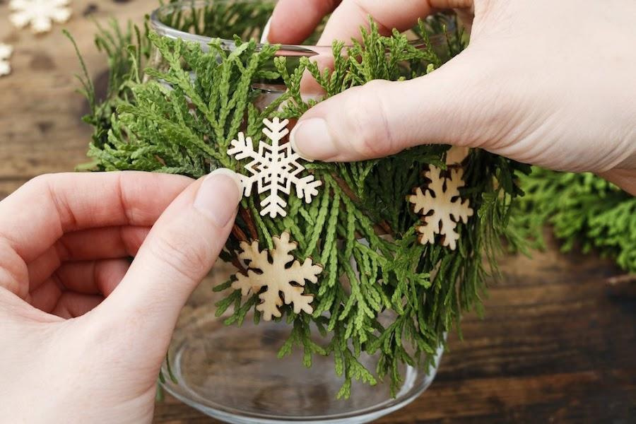 Centro de mesa para Navidad casero y diy