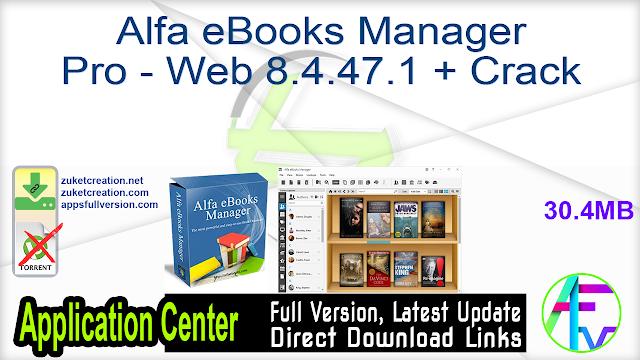 Alfa eBooks Manager Pro – Web 8.4.47.1 + Crack