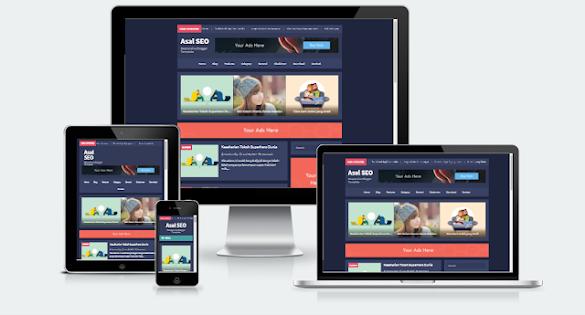 Download Asal SEO Blogger Template Versi Premium