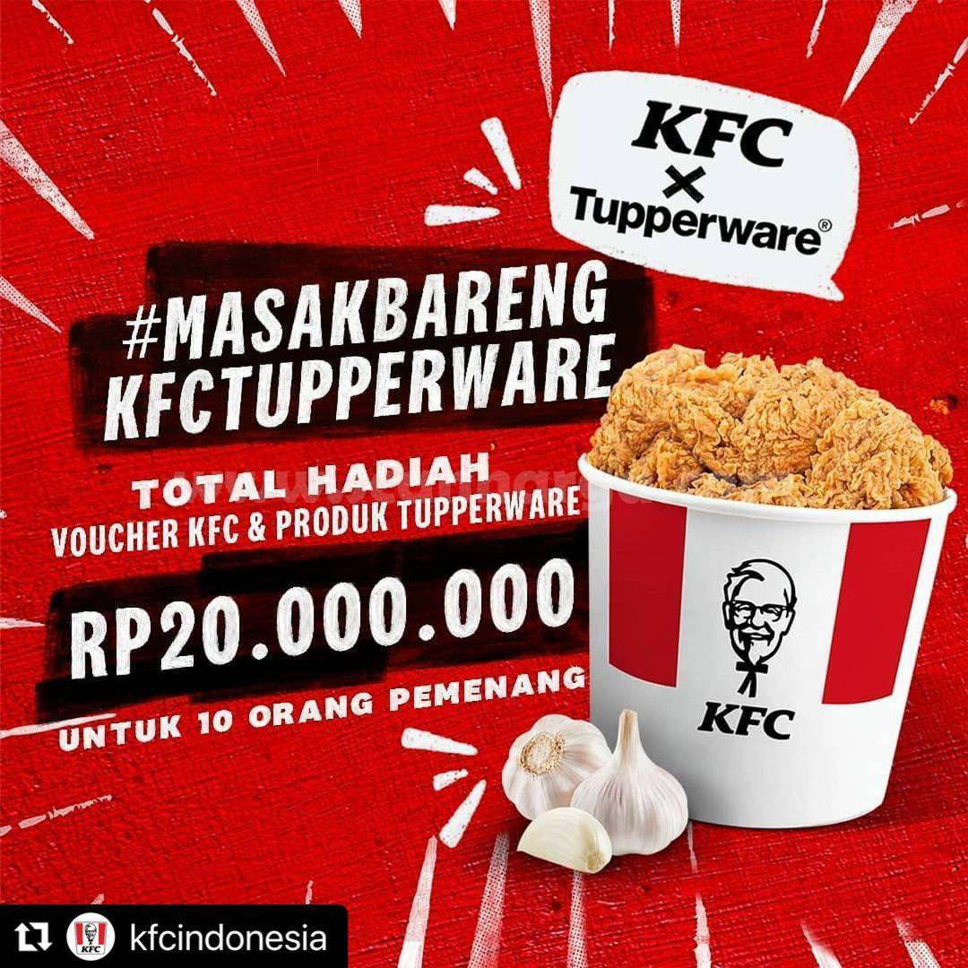 KFC X TUPPERWARE berbagi Resep di #MASAKBARENG Challenge