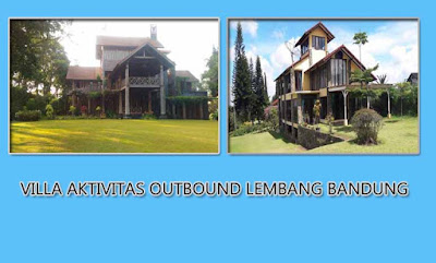 Villa dengan halaman untuk aktivitas outbound di lembang