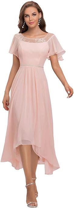 Light Pink Chiffon Bridesmaid Dresses