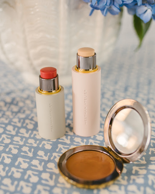 Westman Atelier Review:  Baby Cheeks Blush Stick, Super Loaded Tinted Highlight, and Vital Skin Foundation Stick