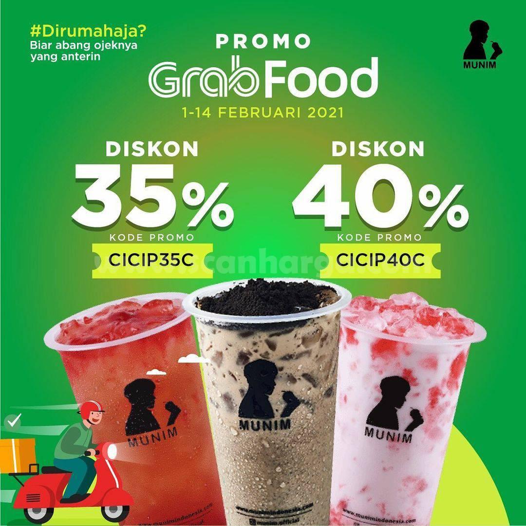 MUNIM Spesial Promo GRABFOOD! DISKON hingga 40%