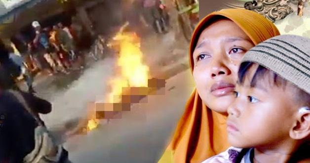 """""""Mengapa Ayah Dibakar Seperti Ayam Bu,"""" Tanya Si Kecil Ini Bila Tahu Ayahnya Dibakar Hidup-Hidup Akibat Salah Sangka Dituduh Mencuri"""
