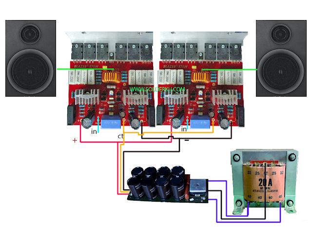 cara merakit power ampli 1000 watt sederhana