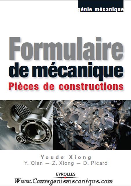 Télécharger Formulaire de mécanique en pdf gratuit