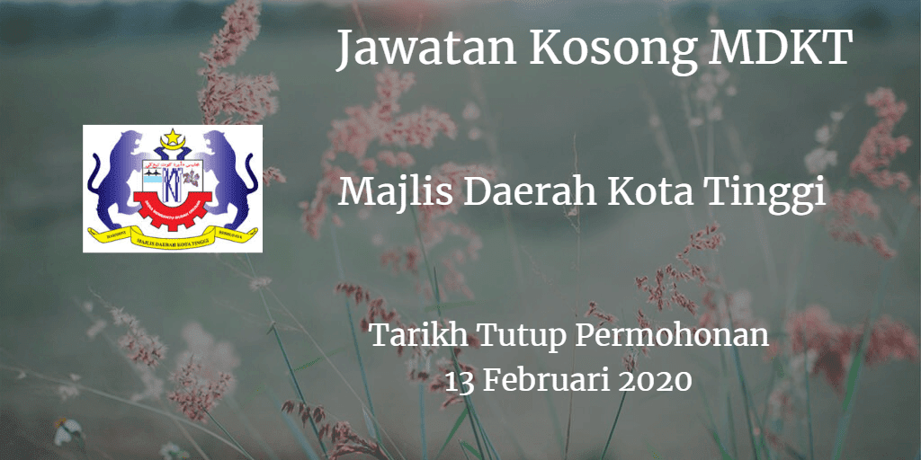 Jawatan Kosong MDKT 13 Februari 2020
