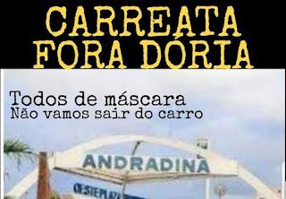 Protesto contra João Dória