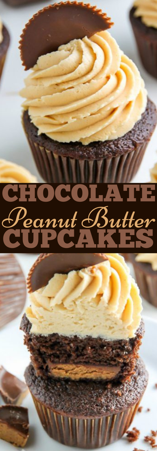 Chocolate Peanut Butter Cupcakes #desserts #cupcakes
