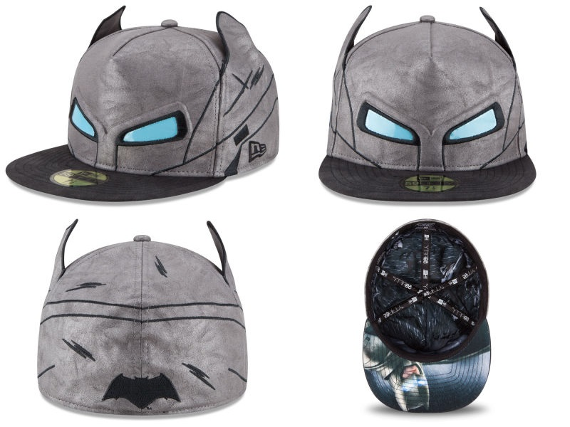 57bd77c30dd41 Batman v Superman: Dawn of Justice Character Armor 59Fifty Fitted Hat  Collection by New Era