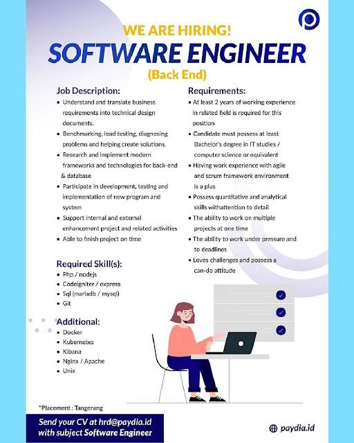 Lowongan Kerja Backend Engineer