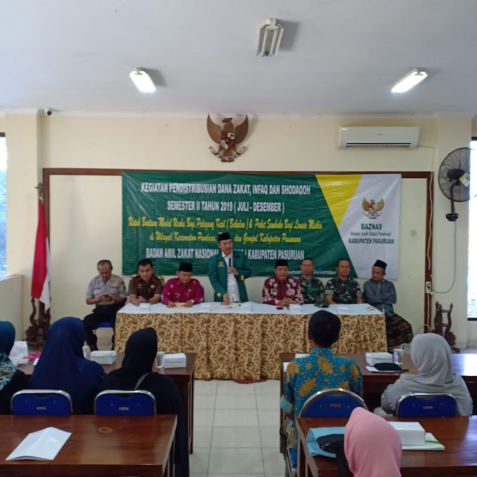Pendistribusian Zakat Dari Badan Amil Zakat Nasional Kabupaten Pasuruan