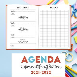 AGENDA ESCOLAR, A5, 2021, 2022, PDF, IMPRIMIR, MOSNTRUOS, HADAS, MARY POPPINS, INDIOS, VAQUEROS, WILD WEST