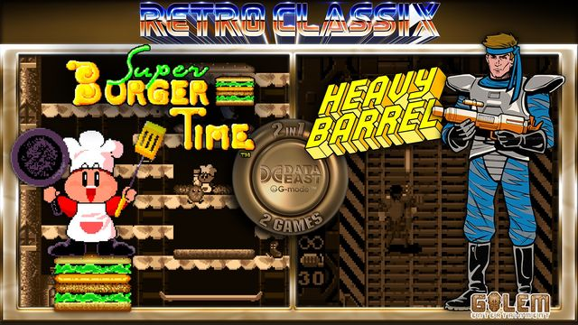Retro Classix 2-in-1 Pack: Heavy Barrel & Super Burger Time v1.0.1 NSP XCI For Nintendo Switch