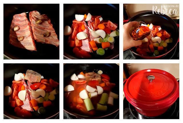 Receta de tacos de costilla ibérica: cocción