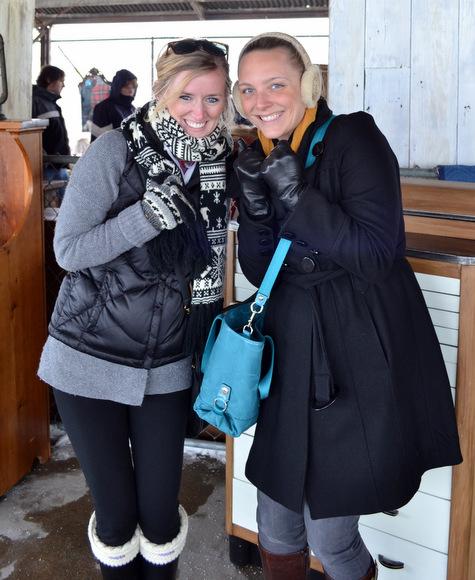 Bundle up with gloves scarves for outdoor flea market