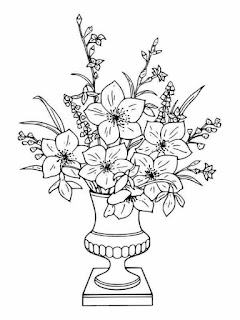 flower bucket adult coloring pages