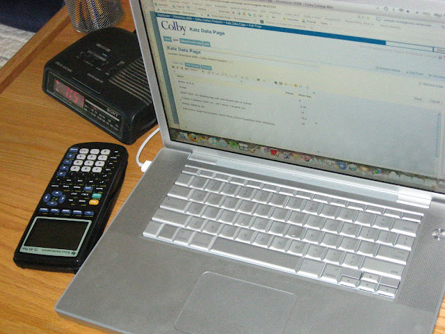 laptop and graphing calculator