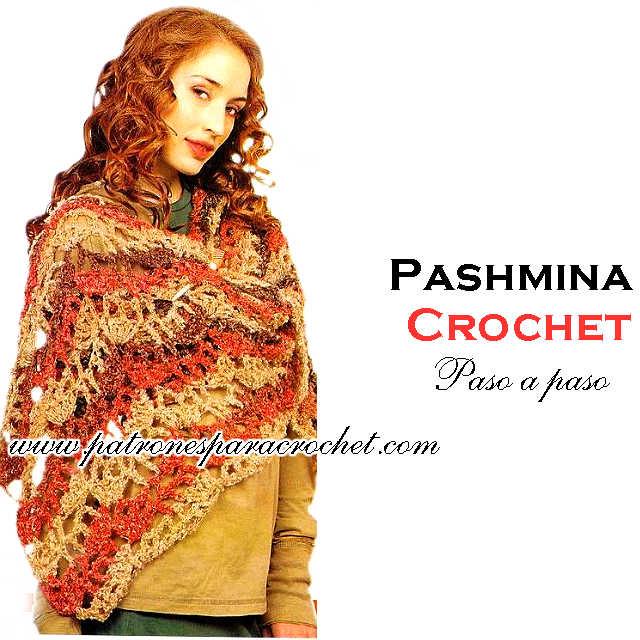 como tejer una pashmina al crochet