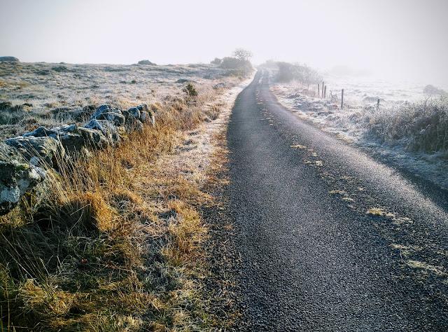 Frosty Connemara landscape at sunrise