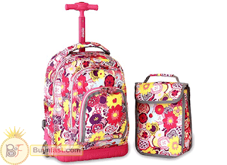Beautiful Rolling Backpack with Lunch Bag from J World New York