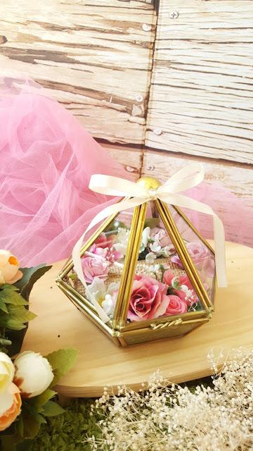 Wedding Ring Box Terrarium Vas Bunga
