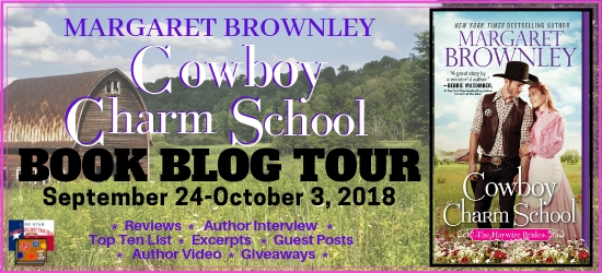 Cowboy Charm School book blog tour promotion banner