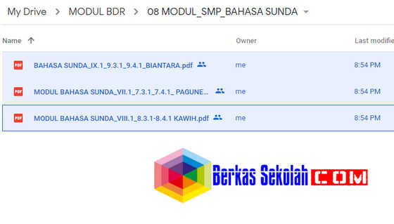 Modul BDR Bahasa Sunda Kelas 7 8 9 SMP/MTs Semester 1