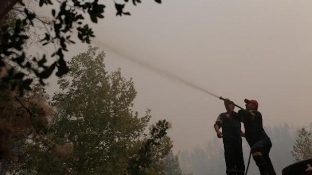 Πυρκαγιά στη Βόρεια Εύβοια: Σε ύφεση τα μέτωπα