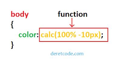 Mengenal function value di css