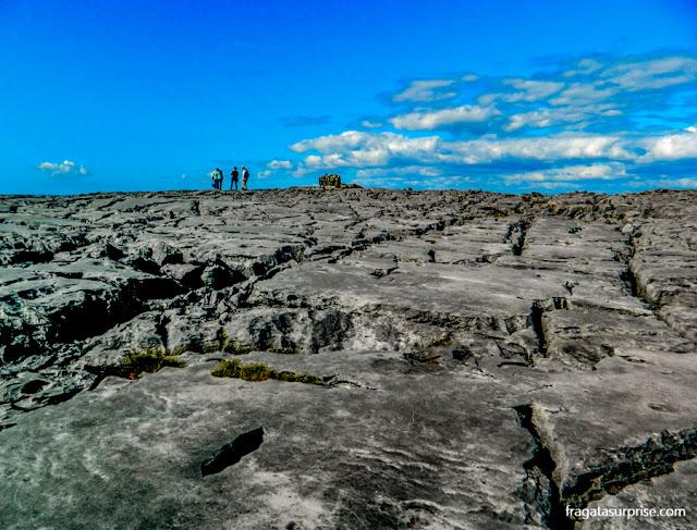 A paisagem lunar do Burren, na Irlanda