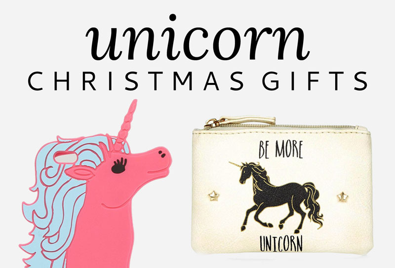 Check out this ultimate Christmas shopping guide to unicorn gifts for the unicorn lover in your life, from jewellery to cushions to phone cases.