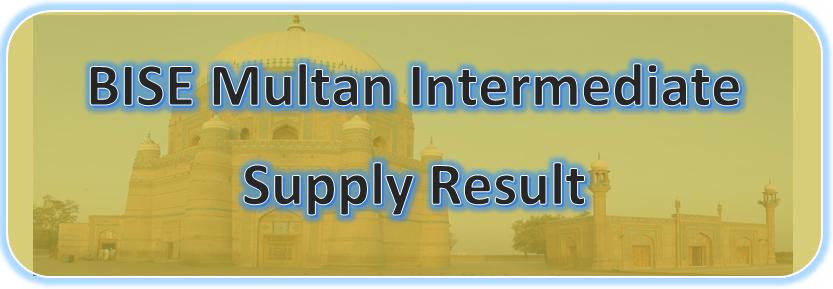 Intermediate Supplementary Result 2020 BISE Multan Board