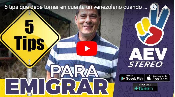 Sergio Novelli le da 5 tips a as personas que deseen emigrar o huir de Venezuela