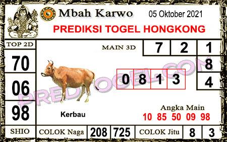 Prediksi Jitu Mbah Karwo Hk Selasa 05 Oktober 2021