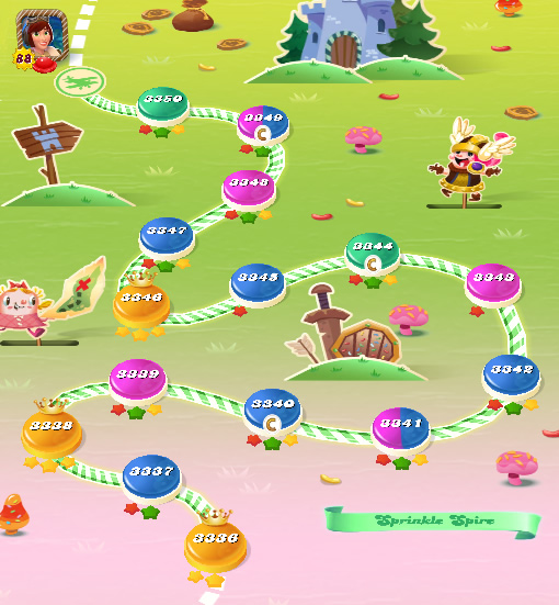Candy Crush Saga level 3336-3350