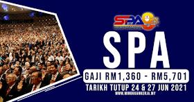 Jawatan Terkini SPA~ Gaji RM1,360 - RM5,701 ~ Minima SPM Layak Memohon