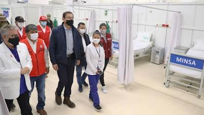 Vizcarra inaugura Centro de Atención Temporal para pacientes Covid-19 en Ayacucho