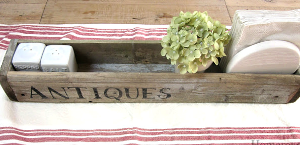 DIY Wooden Centerpiece crate made from a gate