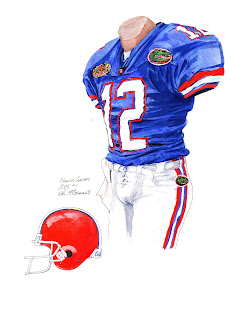 2005 University of Florida Gators football uniform original art for sale