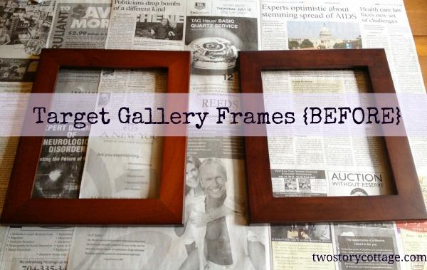 Frames Makeover {Annie Sloan Chalk Paint, Paloma}