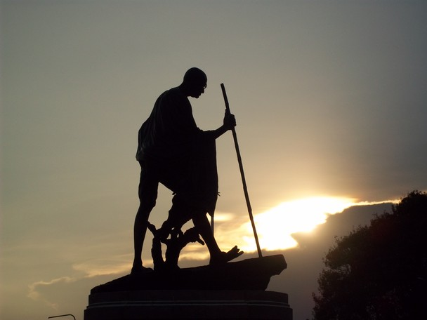Mahatma Gandhi Statue on Marina Chennai, India 1954 | D. P. Roy Chowdhury 1899-1975 | Indian sculptor