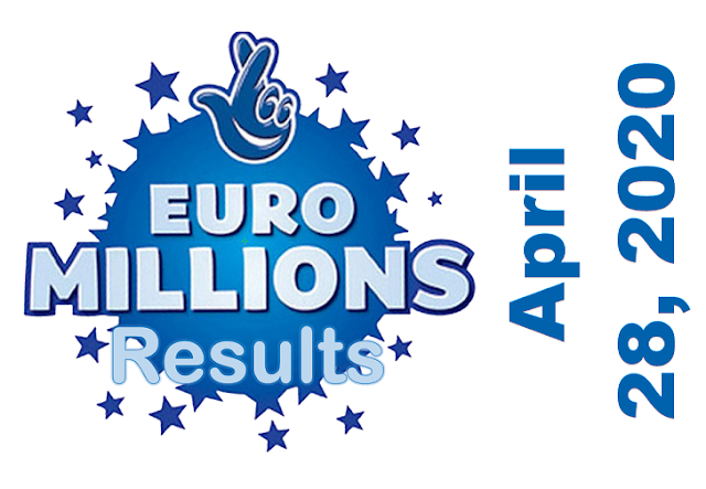 EuroMillions Results for Tuesday, April 28, 2020