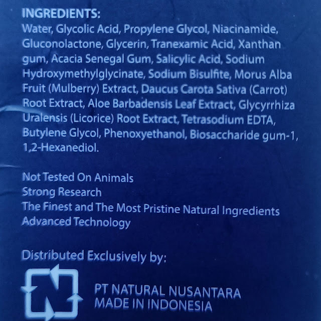 kandungan bahan dark spot essence