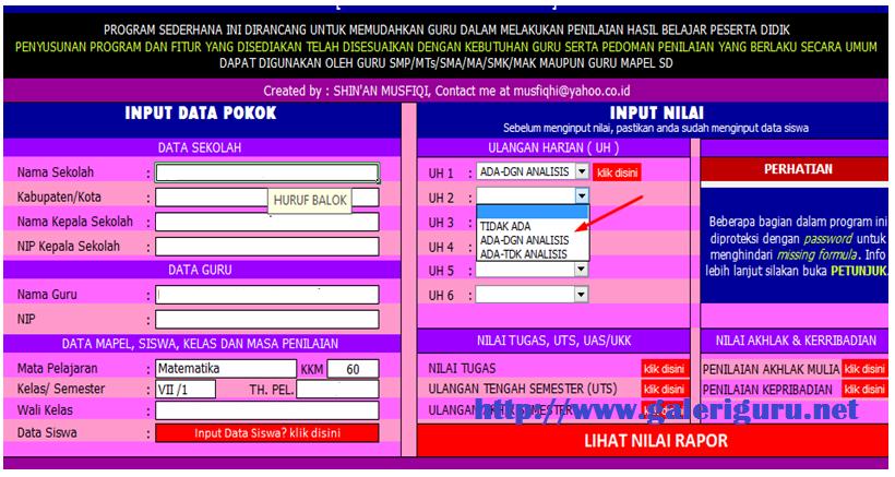 Download Aplikasi Gaya Belajar Siswa Format Excel Galeri Guru Dapodik13